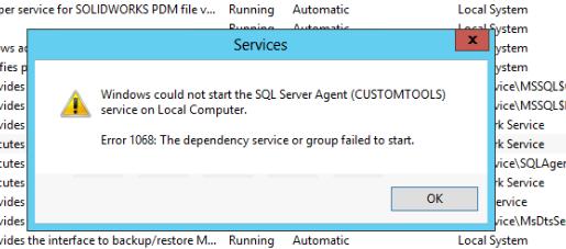 SQL Server Service Startup Failure